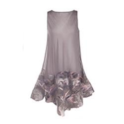 Sukienka jedwabna ręcznie filcowana
