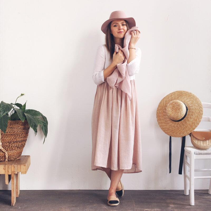 sukienka z przyjemnej tkaniny, sukienki miły materiał, sukienka z lnu