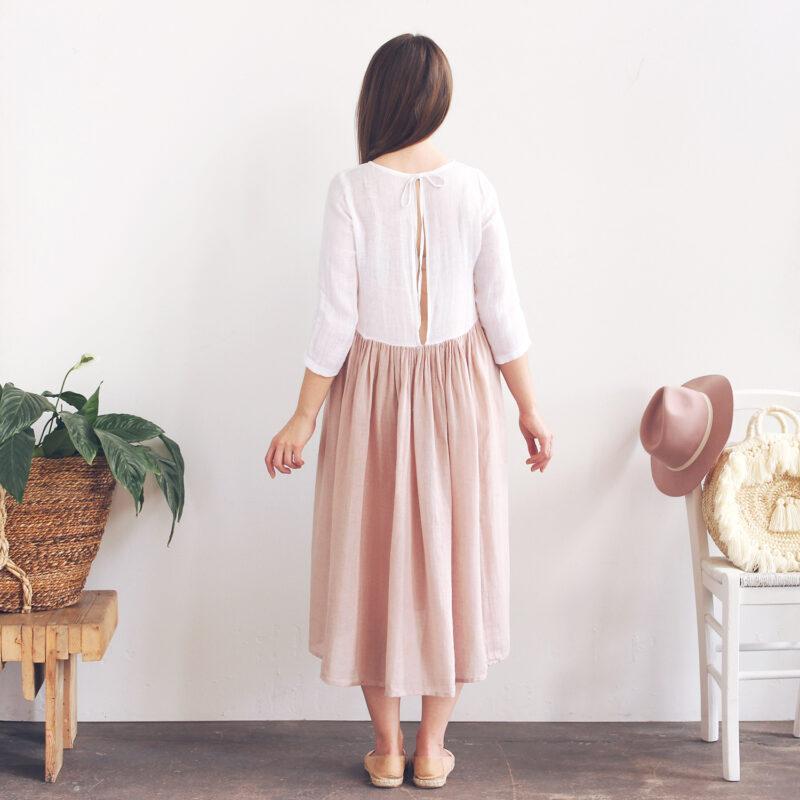 Sukienka z dekoltem na plecach, sukienka z rozcięciem na plecach, sukienka wiązana na karku, sukienka gołe plecy, sukienka z gołymi plecami