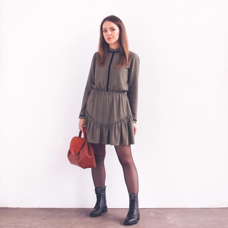 sukienka combat boots, do ciężkich butów, modne sukienki, sukienka na co dzień, modna sukienka, sukienka od projektanta, sukienka stylizacje